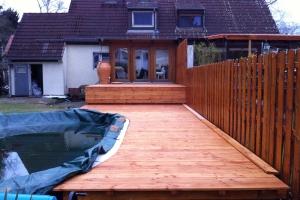 Pool Holzbeplankung Lärche