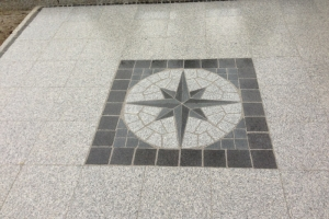 Granit Gehwegplatten Mosaik