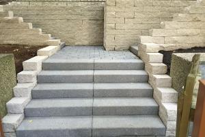 Projekt Vorgarten Frohnau Mauer Treppen