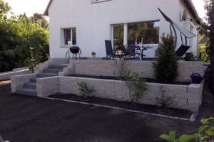 Terrasse Mauer Treppe