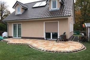 Terrasse Sandstein Granitkanten